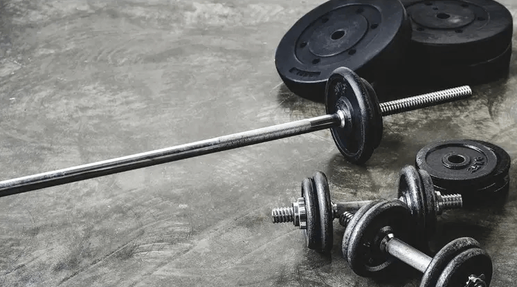 The Standard barbell is lighter and common in most gyms