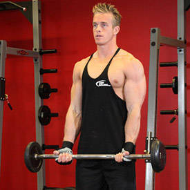 how to do cambered bar curls step 1