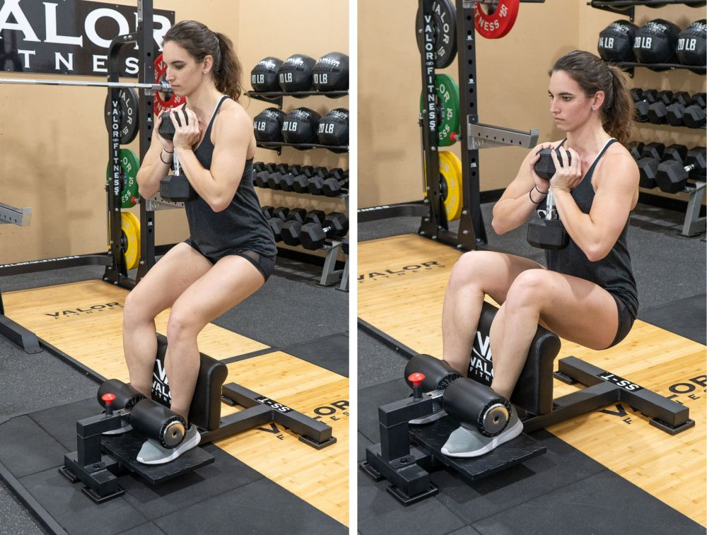 hack squat alternative - sissy squat