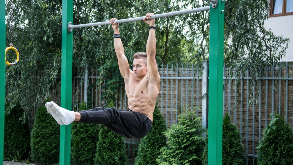 l hang pull ups to work abs