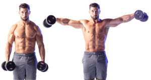 lateral raises to work arms after chest day