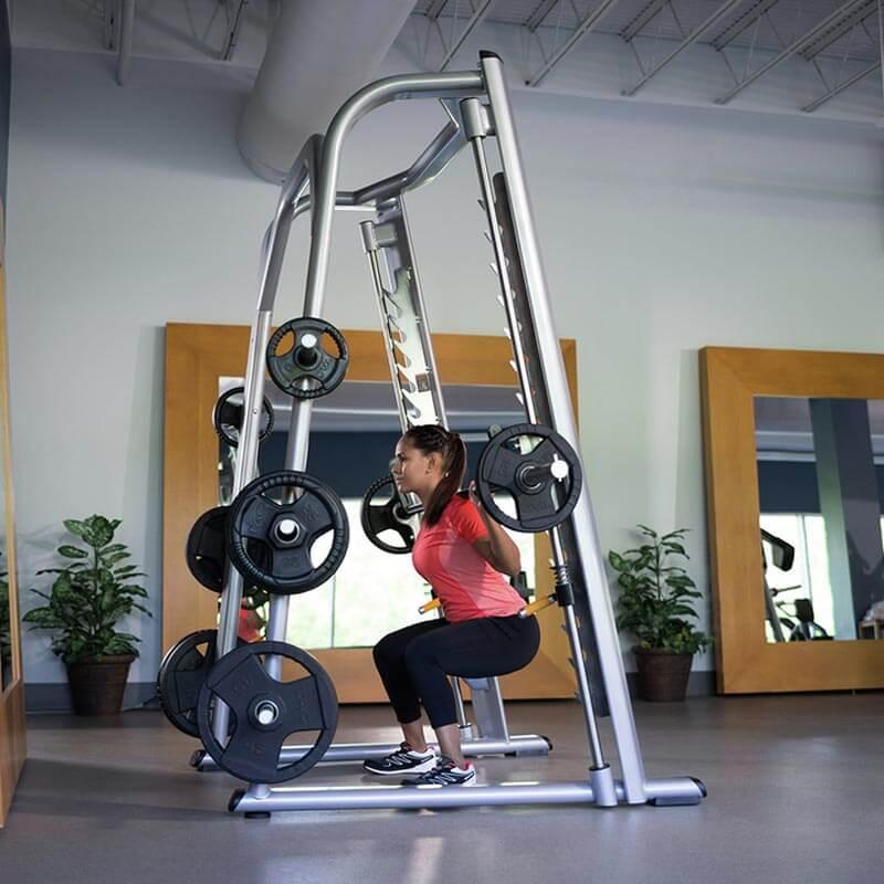 precor 802 smith machine bar weight