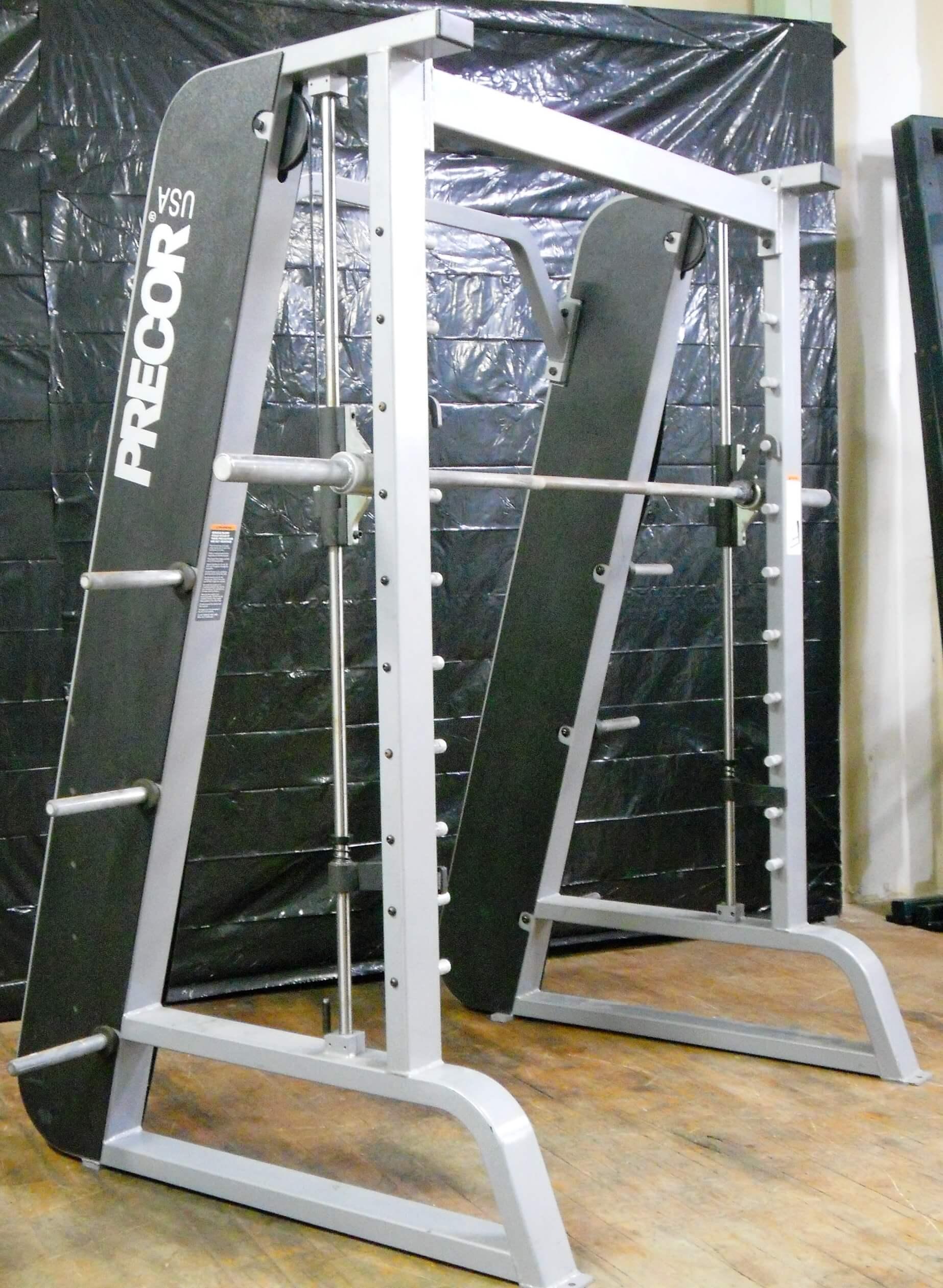 precor smith machine bar weight