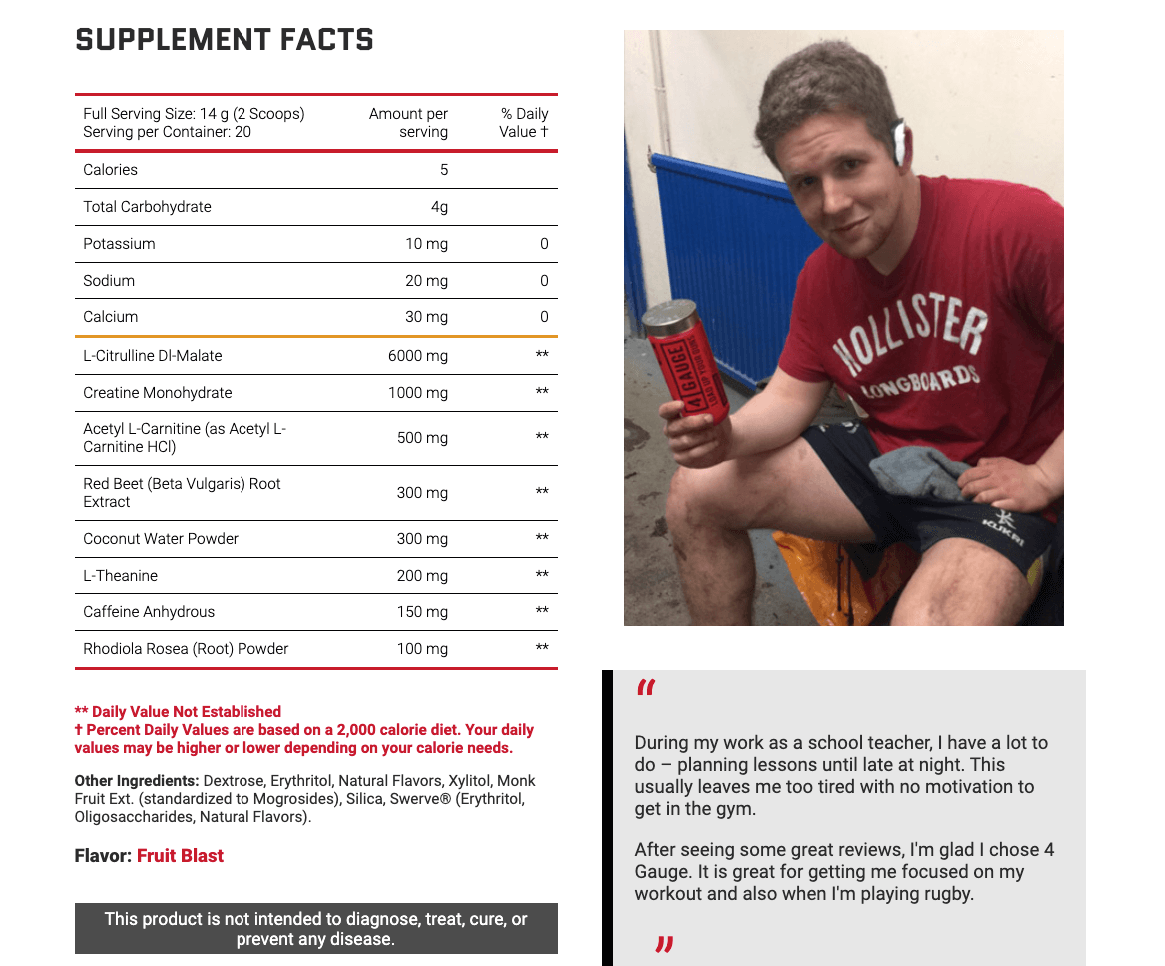 reviews of pre workout with out beta alanine