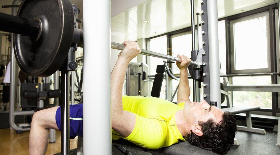 smith machine bar weight