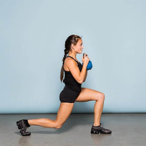 weight lunges to get a bubble butt