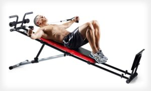 chest flys on the weider ultimate body works home gym