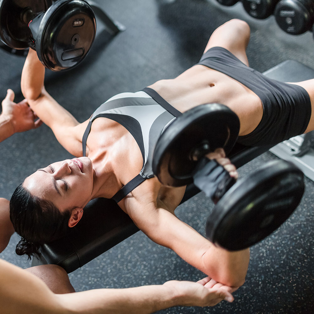 dumbbell chest press for women