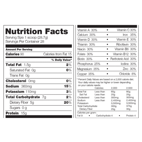 nutrition facts 310 meal replacement the best huel alternative for weight loss