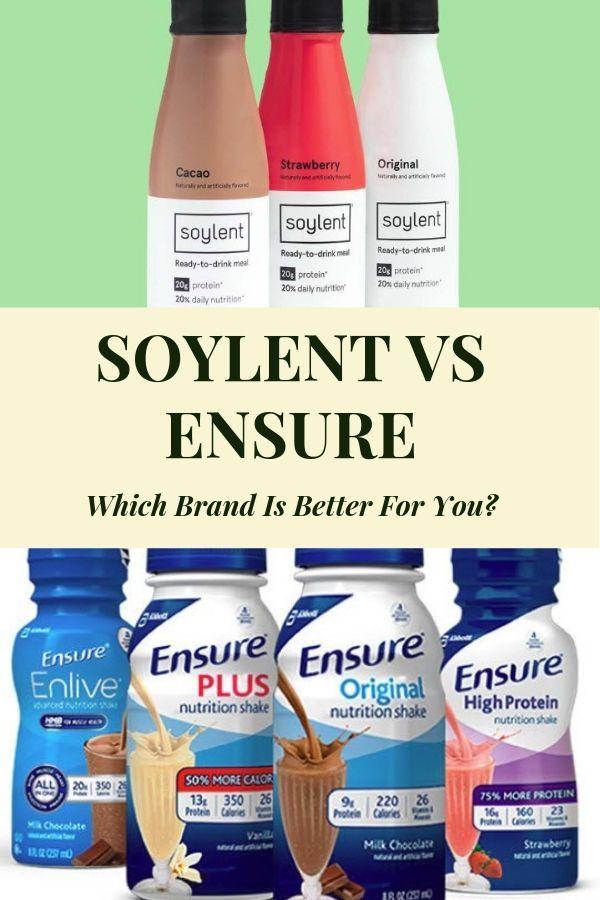 soylent vs ensure review and comparison