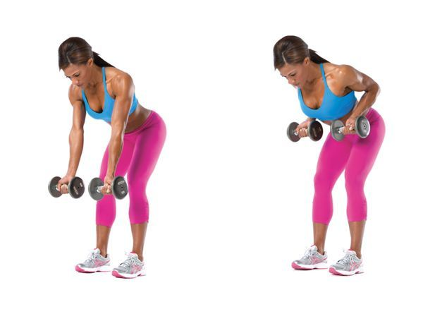 womens dumbbell bent over rows