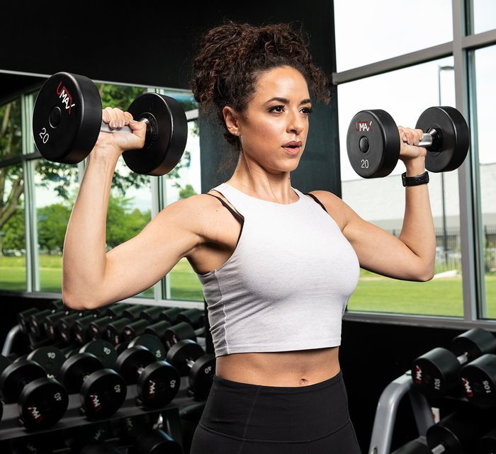 womens dumbbell shoulder workout