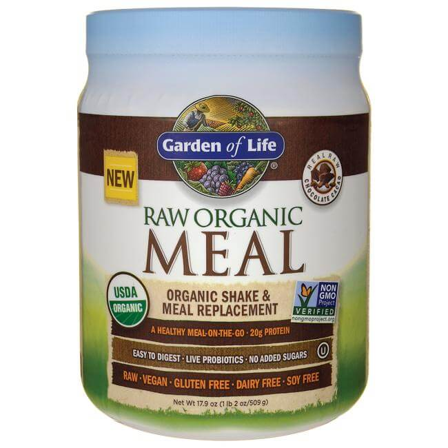 Garden of Life Raw Organic Meal Replacement Powder for upset stomach