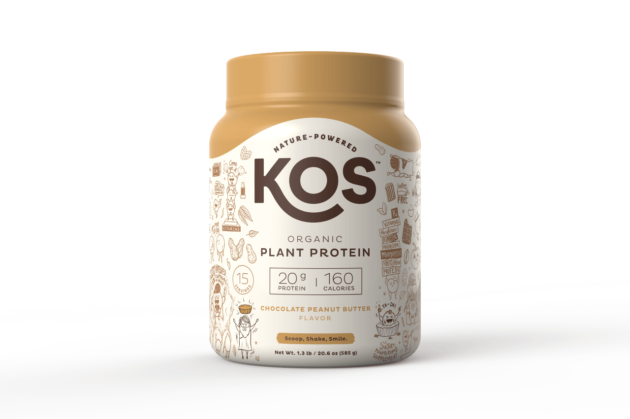 KOS Organic Plant Protein Powder for upset stomach