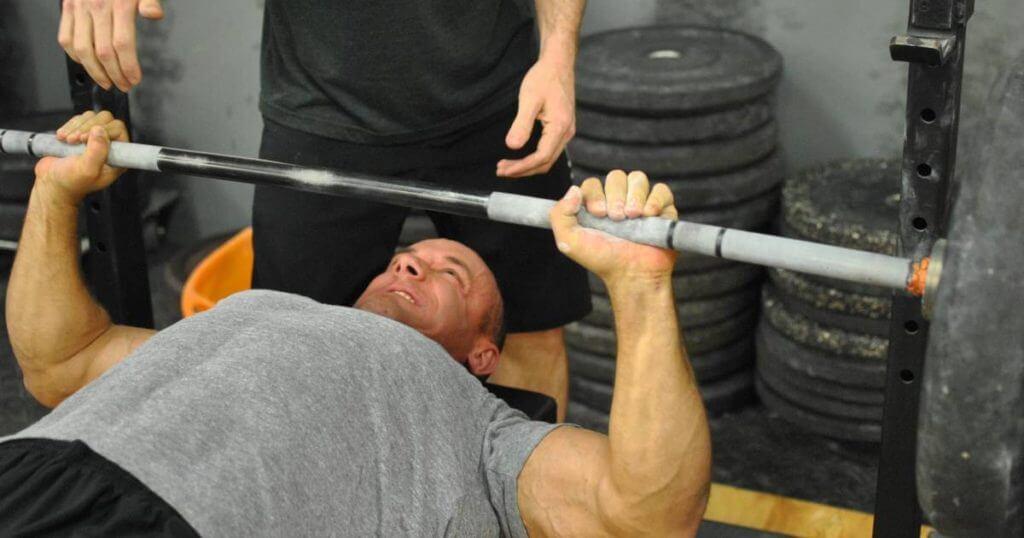 bench press bar weight