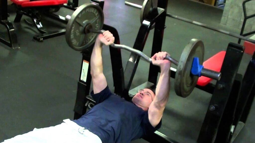 how much does a curl bench press bar weigh