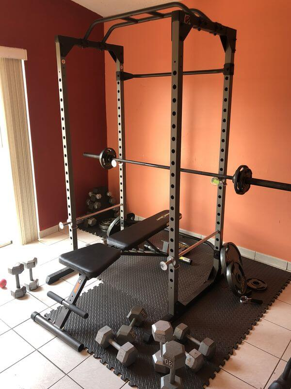 fitness reality 810xlt power rack with lat pull down