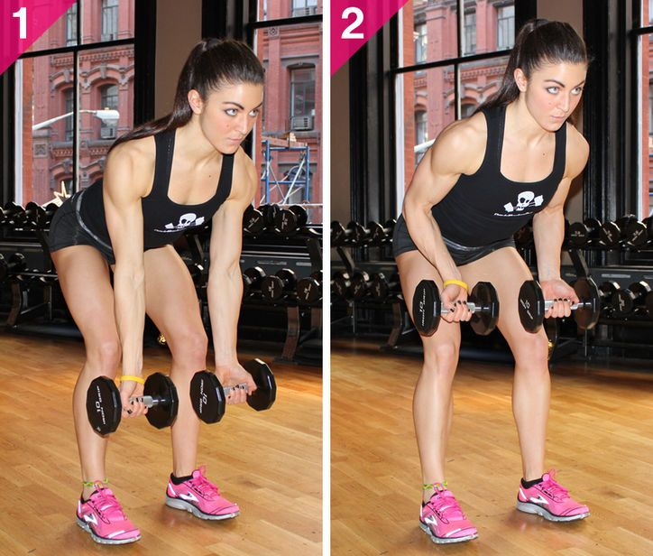 underhand dumbbell row exercise