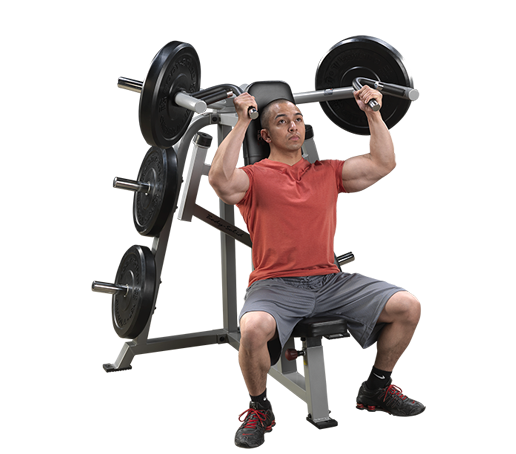 Body solid our best rated shoulder press machine