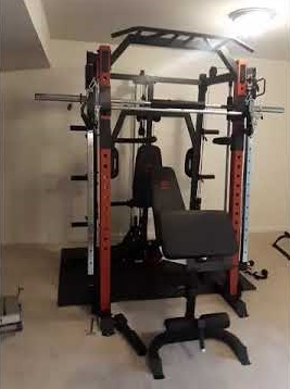 Marcy SM-4033 - Smith Machine - Cage System with Pull-Up Bar and Landmine Station - Best Home Gyms for Bodybuilding