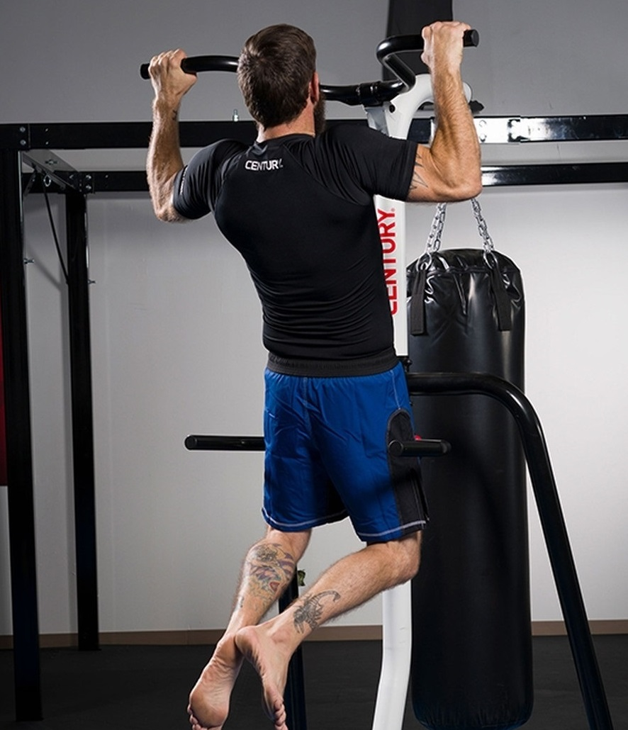 Overall Best Choice - FITNESS TRAINING STATION by Century Martial Arts - Best Punching Bag Stands with Pull Up Bar