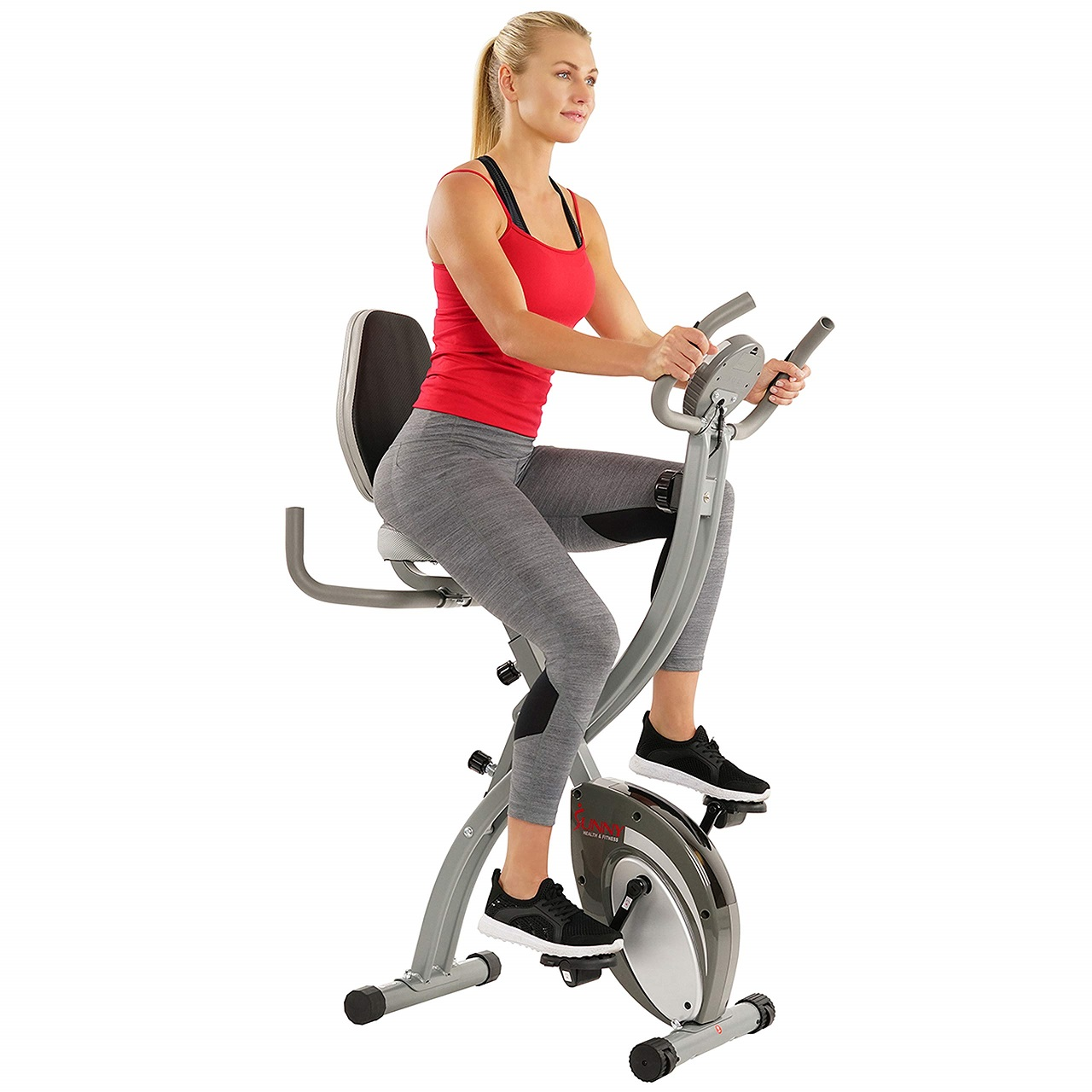 Sunny Health and Fitness Comfort XL - Best Upright Exercise Bikes for Knee Rehab