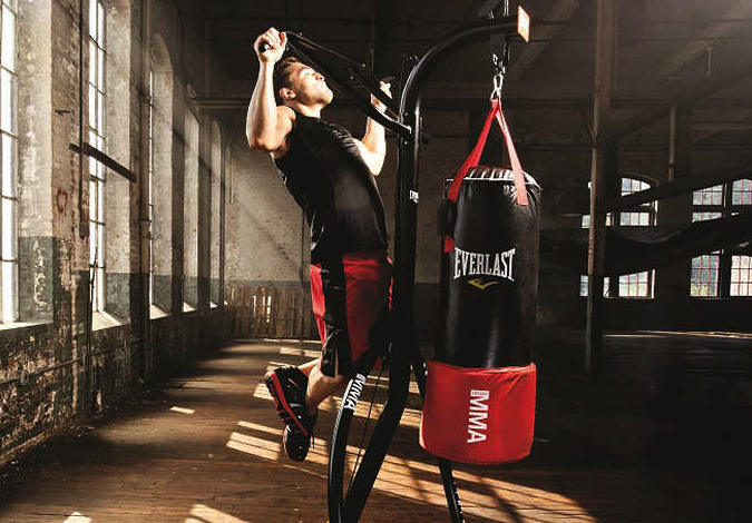 punching bag stand with pull up bar