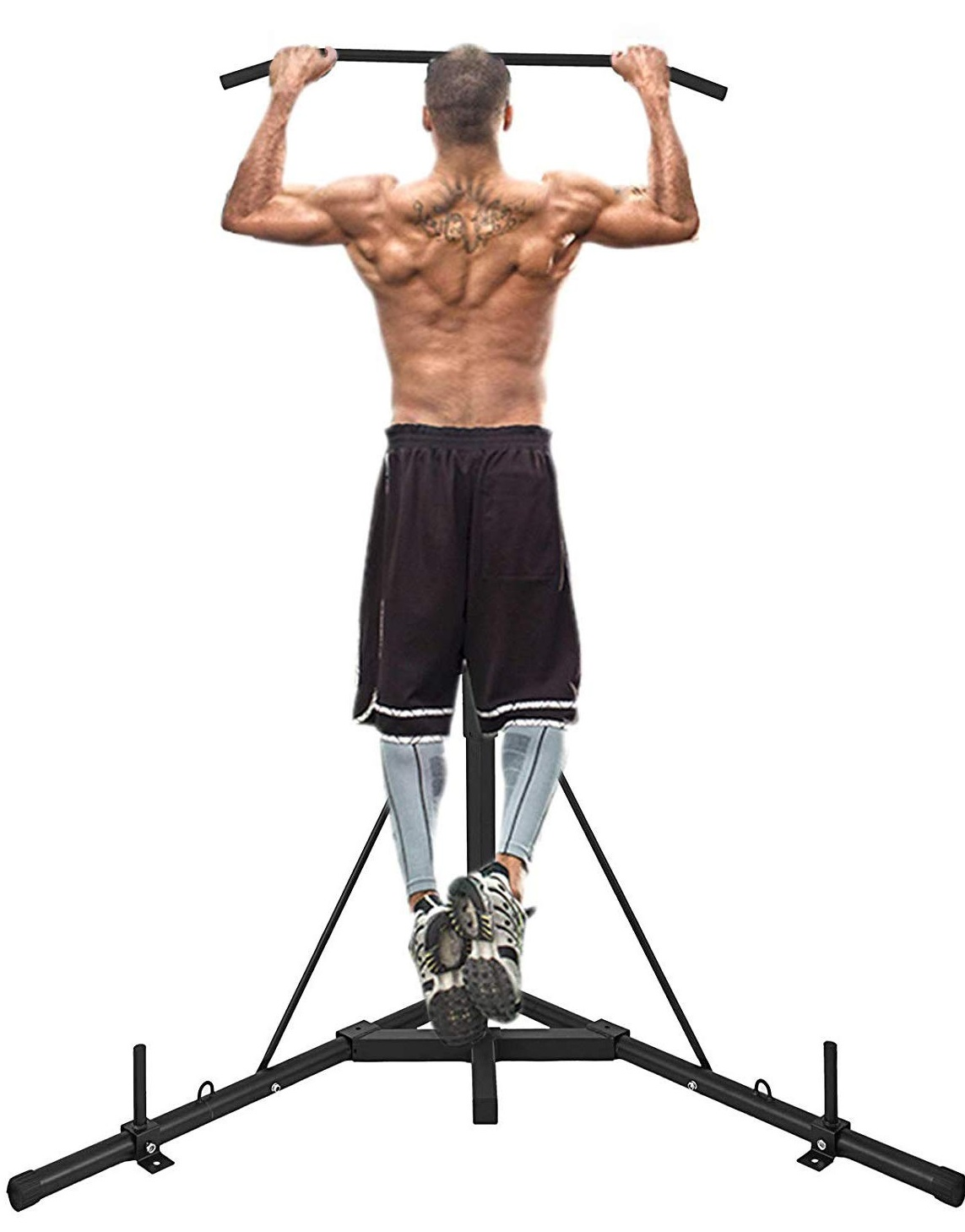 second cheapest - Happybuy Foldable Boxing Heavy Bag Stand - Best Punching Bag Stands with Pull Up Bar