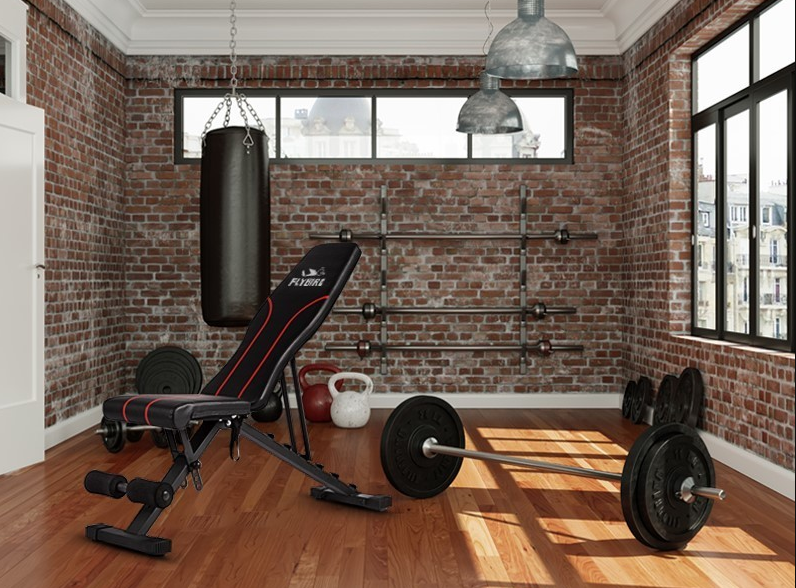 Weight Bench - FLYBIRD Adjustable - Foldable Bench - The Best Home Gym Setup For Fit Lifters, Cardio Enthusiasts & Women