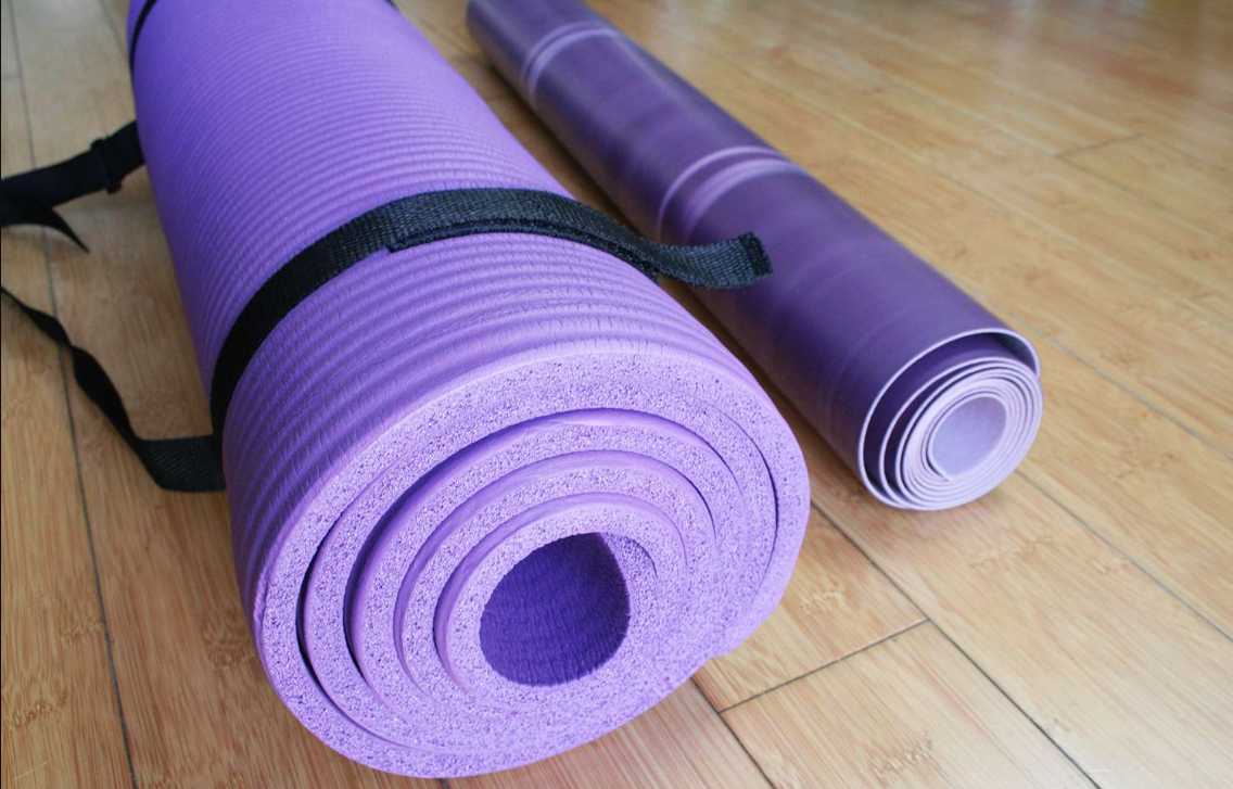 Yoga Mat - BalanceFrom Exercise Mat - The Best Home Gym Setup For Fit Lifters, Cardio Enthusiasts & Women