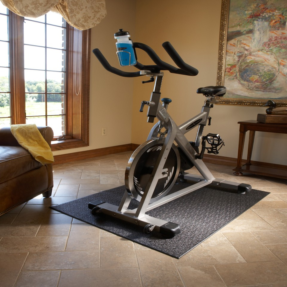 best exercise bike mat