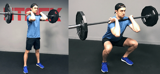 leg extension alternative exercise - front squats