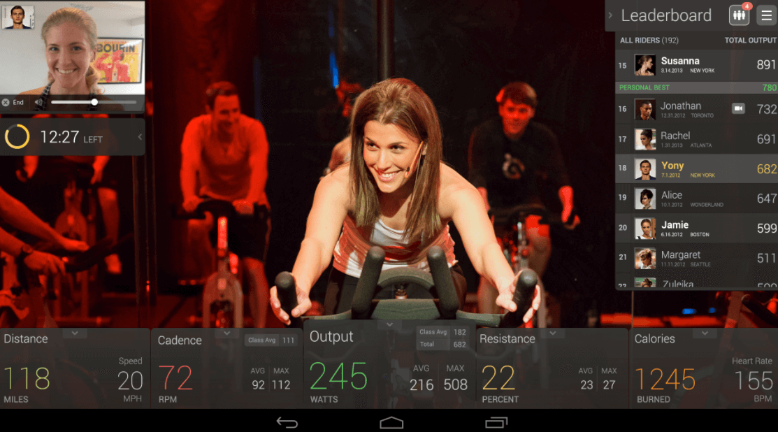 peloton live training classes