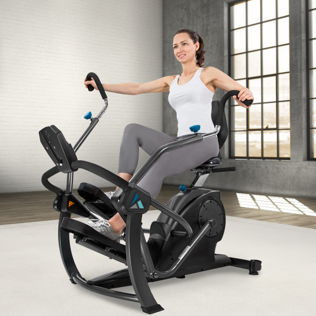Free step recumbent cross trainer dimplex panel heater