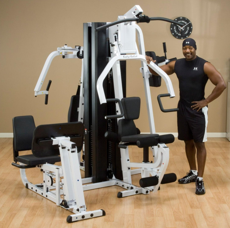 our top rated home gym with leg press machine the body solid EXM3000LPS Double-Stack home gym