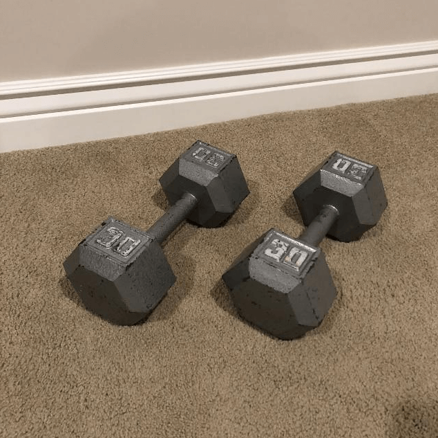 CAP Cast Iron Dumbbells - Affordable Dumbbells - Best Home Gyms for Beginners