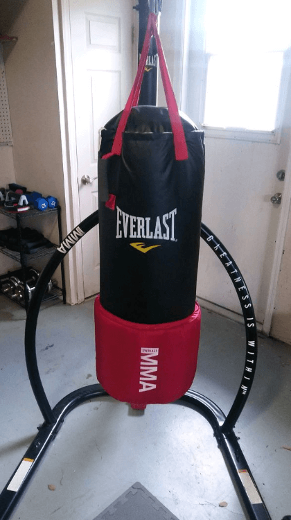 Everlast MMA4788 80lb OmniStrike- Quietest Heavy Bag -Best Hanging Heavy Bags for Apartments