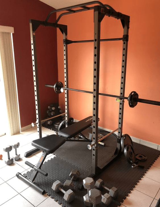 Fitness Reality 810XLT Super Max Power Cage- Best All in 1 Free Weight Home Gym Set up For Beginners - Best Home Gyms for Beginners