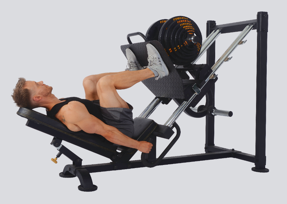 the second entry on our best leg presses for home gyms is the P-LP19 Leg Press from Powertec