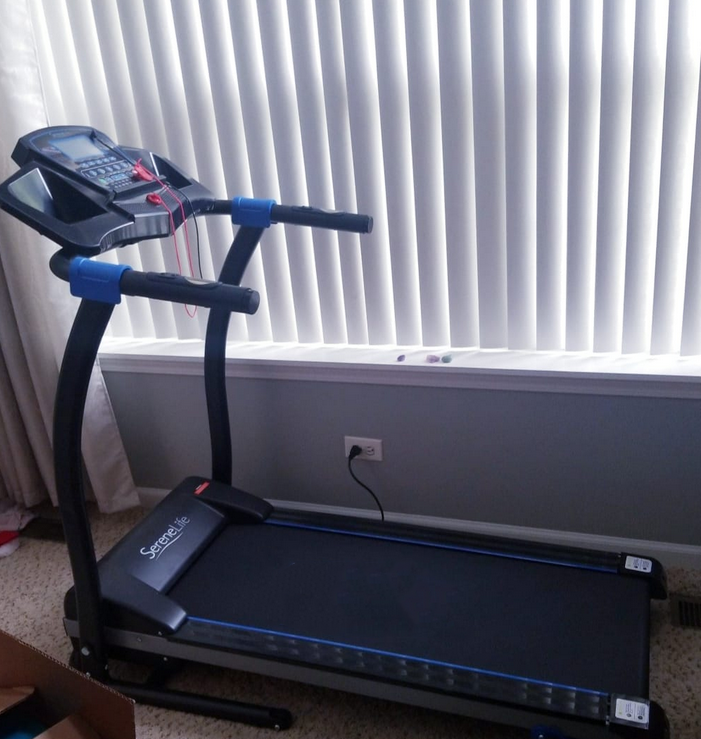 the fifth item on our list is the SereneLife Smart Digital Folding Treadmill