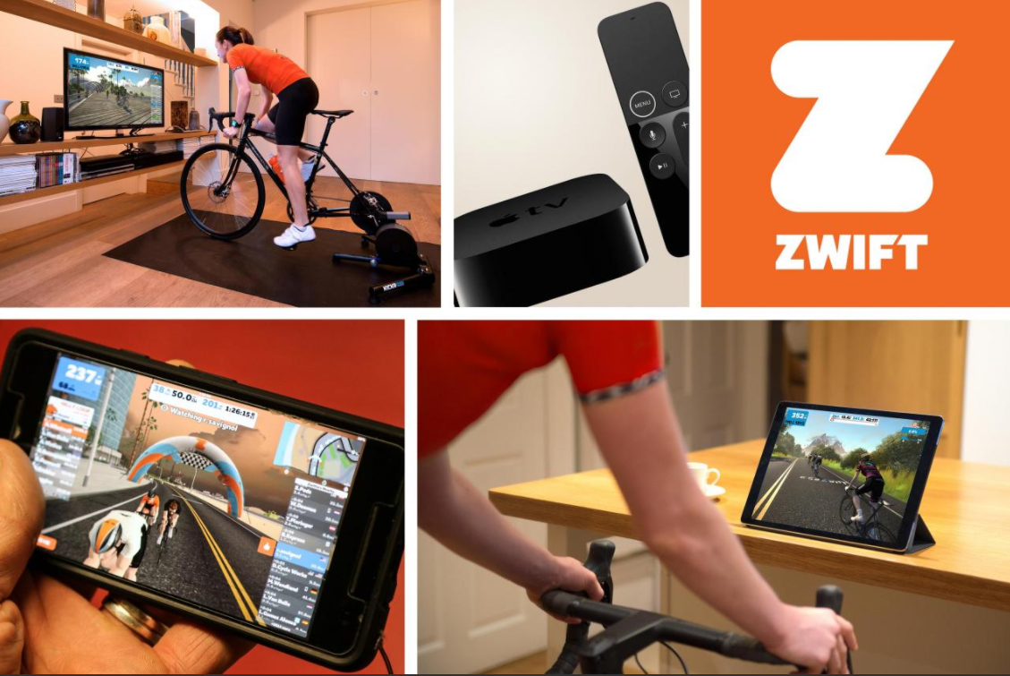 you can use Zwift and TrainerRoad on multiple devices including Windows and macOS computers, as well as Android or iPhone, SmartTVs, and tablets or iPad.