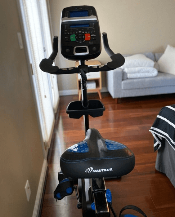 The most advanced upright exercise bike with a screen the U618 from Nautilus