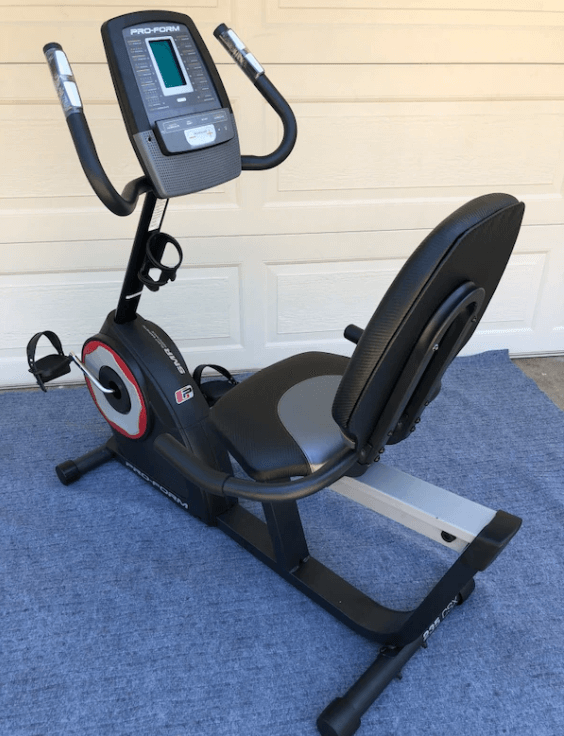 The 235 CSX from ProForm  is the cheapest Recumbent Bikes on our list ,it has a large LCD display shows important workout progress and is easy to read, except in low light as there's no backlit.