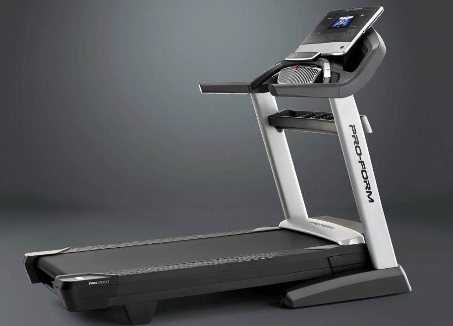 The SMART Pro 2000 Treadmill from Proform has a 7-Inch Touchscreen