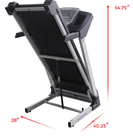 folding system of the budget apartment treadmill