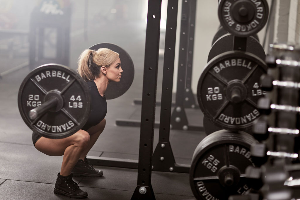 how many reps of bench and squat should i do on the same day