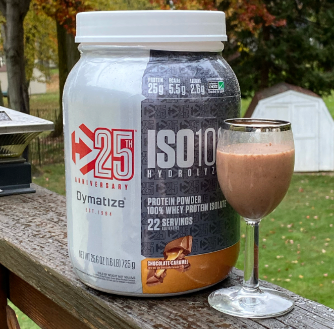 A serving of Dymatize ISO 100