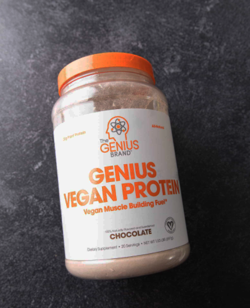 A great Protein Powder without Creatine that is great for vegans is the Genius Vegan Protein Powder