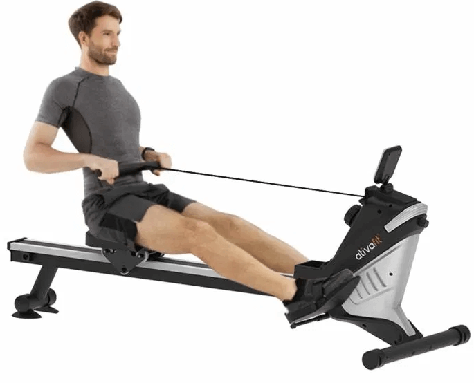 The ATIVAFIT Magnetic Rower Rowing Machine uses Magnetic Resistance