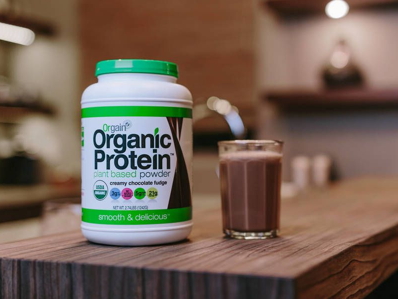 Orgain Organic Plant Based Protein Powder serving